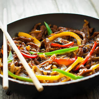 Beef and Peppers in Black Bean Sauce.