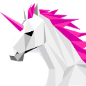 Poly Art Unicorn 3D Puzzle Roll Polygons Game icon