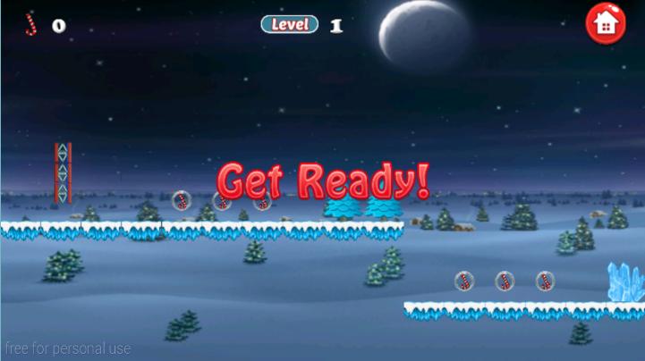 android Santa Bike Dash Screenshot 2