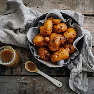 Ridiculously Easy Pumpkin Fritters With Butterscotch Sauce