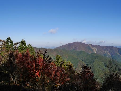 紅葉と高見山