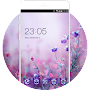 Purple Flower Launcher : Beautiful Nature hd Theme APK icon