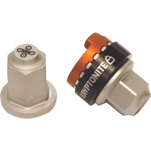 Kryptonite Security Wheelnutz Silver M10 Solid Axle Locking Nuts