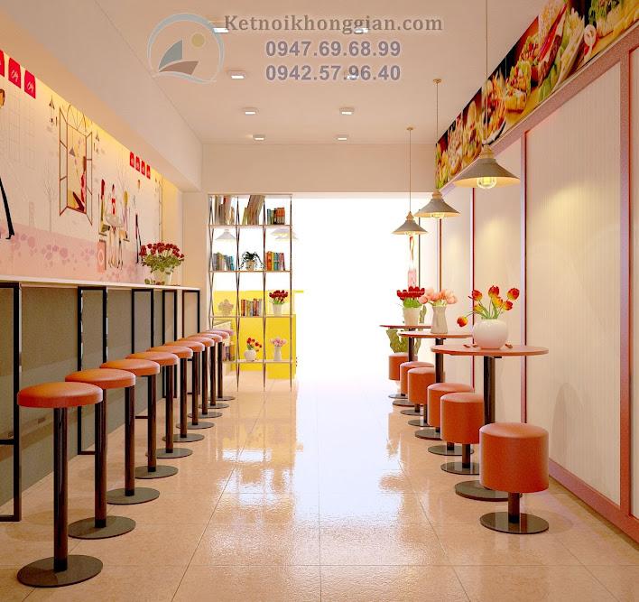 thiết kế cửa hàng ăn nhanh chất lượng cao tại Thanh Xuân