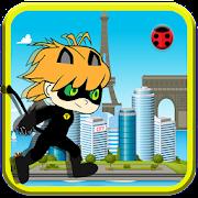 Sprinter Chibi Black Cat Ninja
