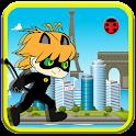 Sprinter Chibi Black Cat Ninja icon