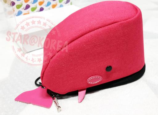 ★star@korea★實品開箱★超可愛的鯨魚相機包-桃紅腮紅款
