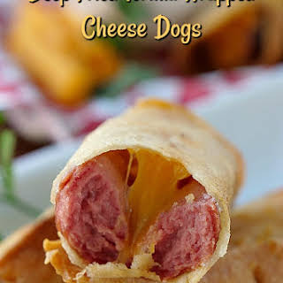 Deep Fried Tortilla Wrapped Cheese Dogs.