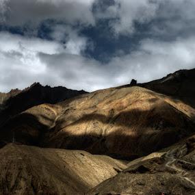 Shadow Play by Rohit Chawla - Landscapes Mountains & Hills ( lamayuru, himalaya, moonscape, cosurvivor, india, ladakh, shadows, landscpae )