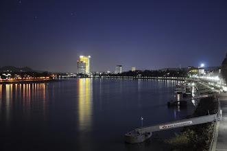 Photo: DHL Tower, Bonn, above the Rhine