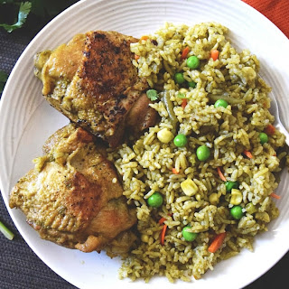 Arroz con Pollo, Peruvian Chicken with Cilantro Rice