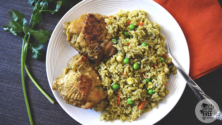 Arroz con Pollo, Peruvian Chicken with Cilantro Rice Recipe | Yummly
