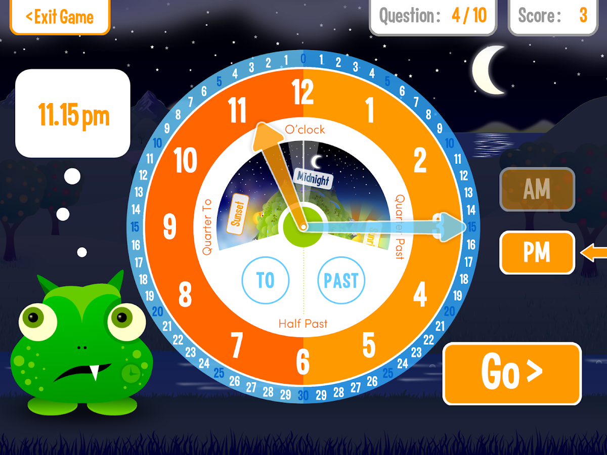 Squeebles Tell The Time- screenshot