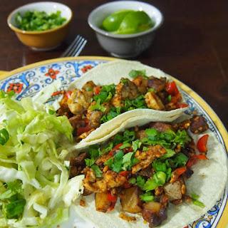 Chorizo Tempeh & Potato Tacos