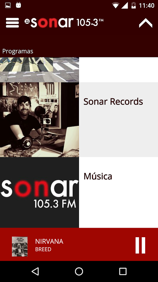 Sonar FM- screenshot