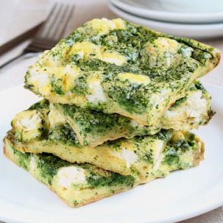 Creamy Spinach And Cheese Frittata