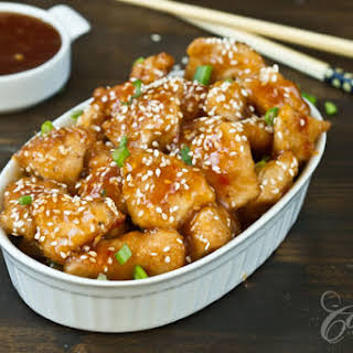 Baked Honey Sesame Chicken.
