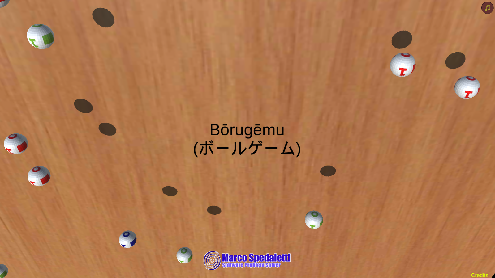 Bōrugēmu- screenshot