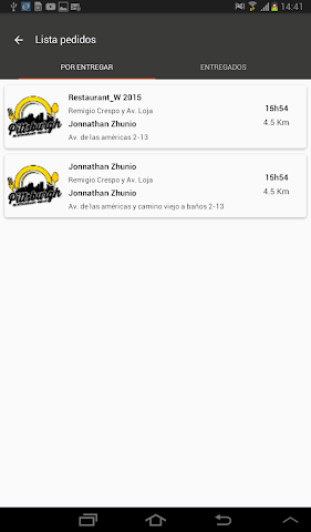 android Administrador Levering Screenshot 6
