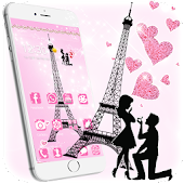 Pink Eiffel Tower Paris Kawaii Theme Android APK Download Free By Maddy MVM Themes