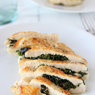 Spinach and Feta Stuffed Chicken.