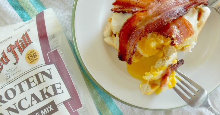 Open Faced Protein-Packed Breakfast Sandwiches Recipe