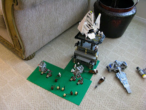 Photo: A Star Wars base set up as Endor.