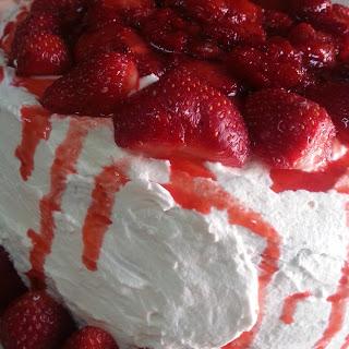 Strawberry Balsamic Cake