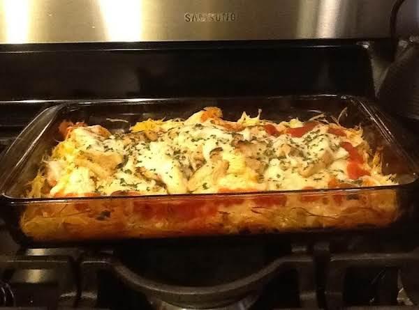 Spaghetti Squash Chicken Bake Recipe