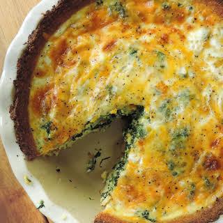 Cheesy Vegetable Quiche with Cauliflower Crust.