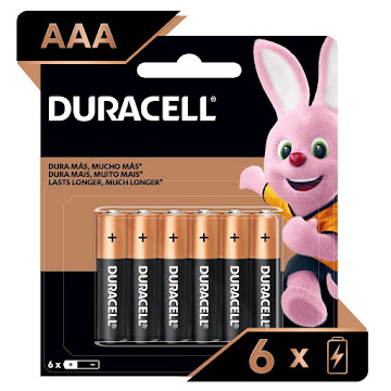Pilas Alcalinas Duracell AAA Paquete x 6Und
