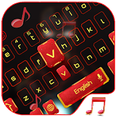 Red Robot Music keyboard Theme