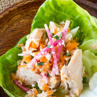 Asian Tuna Salad Lettuce Cups.