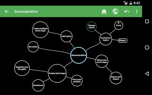 SchematicMind Free mind map screenshot 8