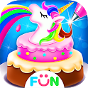 Unicorn Frost Cakes - Rainbow Cake Bakery Games icon