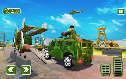 Army Car Transporter 2019 : Airplane Pilot Games 1.2 screenshots 1
