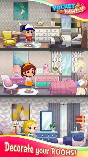 Pocket Family Dreams: Build My Virtual Home apklade screenshots 2
