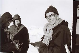 Photo: Ukjente tjenestemenn fra Kringkastingskontoret?   Åseral. 60-årene.