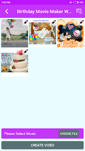 Birthday Movie Maker With Music - náhled
