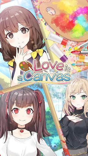 Tu00e9lu00e9charger Love is a Canvas : Hot Sexy Moe Anime Dating Sim APK MOD (Astuce) screenshots 1
