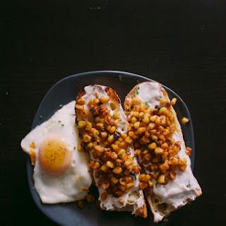 Toaster Oven Corn + Greek Yogurt Tartine.