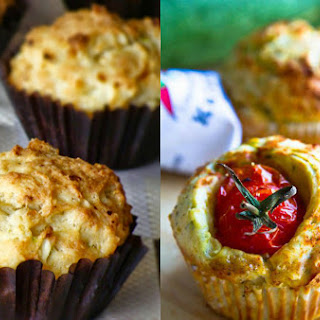 Muffins With Zucchini And Cheese.