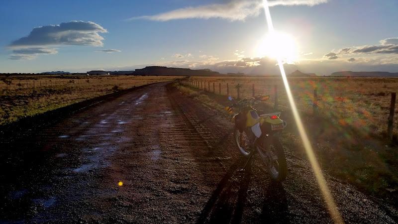 Photo: Riding the gravel road on Sagebrush Bench