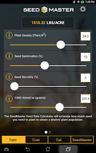 SeedMaster Seed Rate Calc- screenshot thumbnail