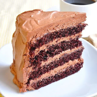 Chocolate Cake with Italian Chocolate Buttercream Frosting Recipe