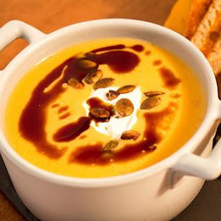La Bonne Vie Pumpkin Soup with Crème Fraîche