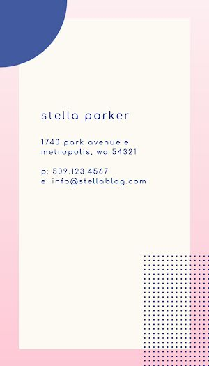 Stella Parker - Business Card Template