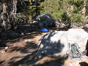 Photo: my bivy sack at the base camp... brrr!
