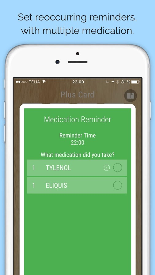 Florence - Medication reminder- screenshot