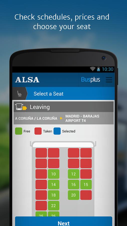 ALSA: buy your bus tickets - screenshot
